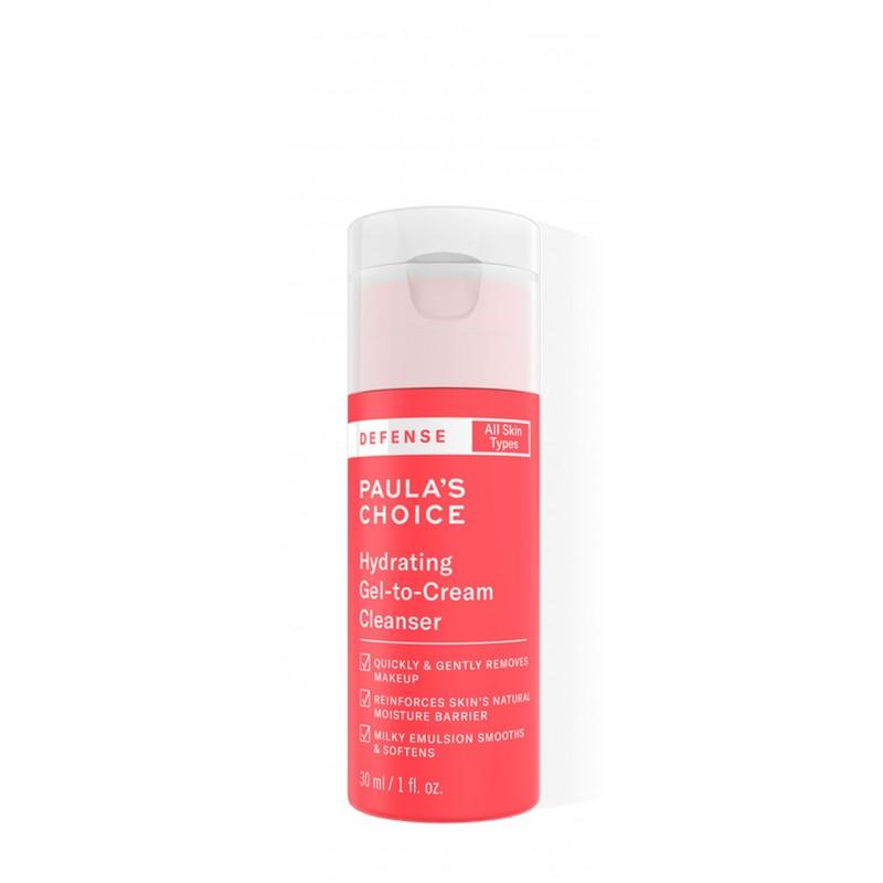 Defense Hydrating Gel-to-Cream Cleanser formato prova