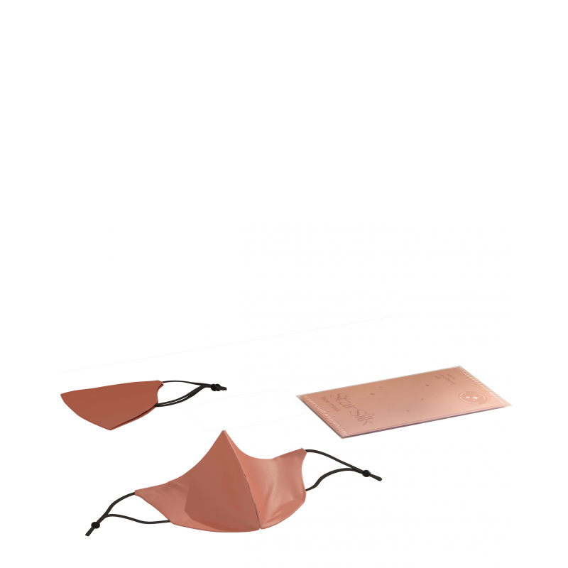 Mascherina in seta per il viso Daydream Pink
