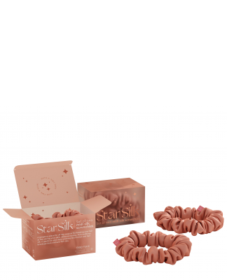 Set di due elastici in seta per i capelli Daydream Pink