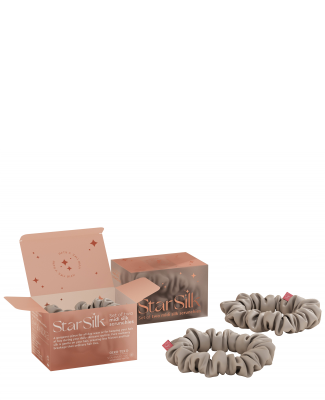 Set di due elastici in seta per i capelli Silver Stardust
